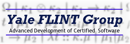Yale FLINT Group: Advanced Development of Certified Software